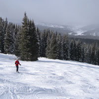 Copper Mountain's uncrowded slopes after the New Year holiday.
