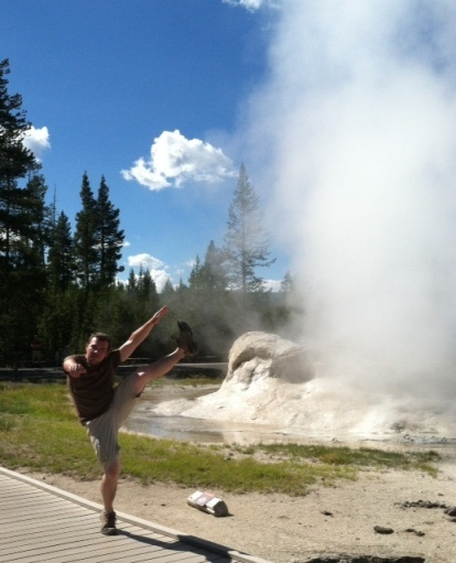 Grotto Geyser, Yellowstone National Park, ID/MT/WY - July 2013