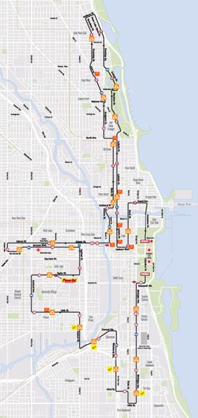 2013 Route, click for official marathon website.