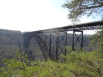 New River Gorge Bridge near Fayetteville, West Virginia. Longest steel span in the western hemisphere.