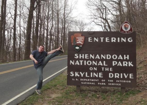 Rockfish Gap Entrance, Shenandoah National Park, VA - April 2014