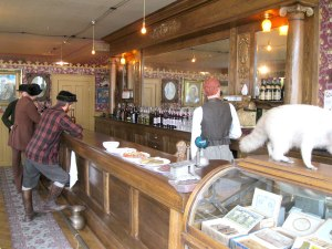 The historically restored Mascot bar in Skagway.
