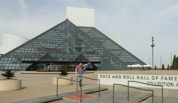Rock and Roll Hall of Fame and Museum, Cleveland, Ohio - April 2014