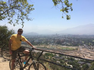 One again we returned to Santiago. We biked around the lovely hilltop Parque Metropolitano.