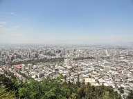 From the top of San Cristóbal hill you get a nearly 360 degree view of Santiago.