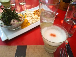 Last meal in Santiago before heading home. Ceviche and Pisco Sours for the road.