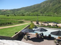 We visited the Montes vineyard in the Colchagua Valley wine region.
