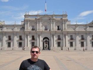 Palacio de la Moneda is the seat of the president of Chile.
