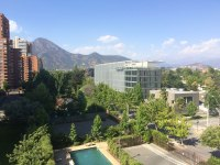 The view from Nick's brother's place in Vitacura, Santiago.