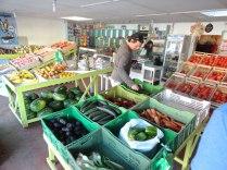 Shopping for produce for dinner.