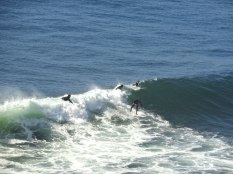 Conditions here create perfect waves for surfing, making it an internationally known location.