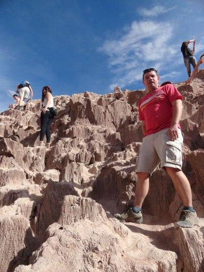 Emerging from salt caves in Valle de la Luna.