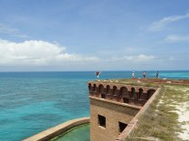 Nick performs a stunning kick atop the ramparts of Fort Jefferson.