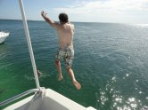Nothing makes you feel like a spring breaker like jumping off the top of a boat into bathwater-warm water.