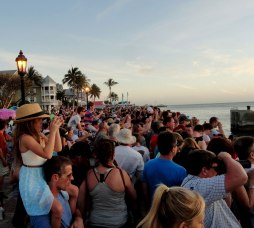 Everyone goes to Mallory Square to watch the sunset, but it's more entertaining to watch the tourists watching the sunset like they've never seen one.