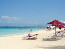 Seven Mile Beach on Grand Cayman is lined with resorts from end to end.