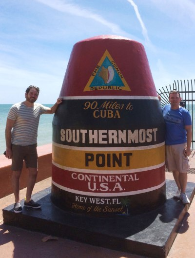 We've arrived in Key West. 90 miles to Cuba, baby.