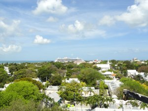 View of Key West from the top of the lighthouse.