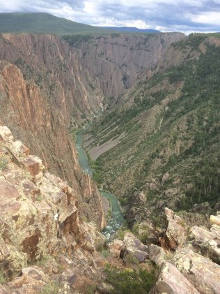 Black Canyon of the Gunnison National Park protects the most dramatic section of the extremely deep and steep canyon.