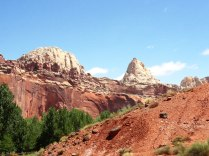 Some of the dome-shaped formations that give Capitol Reef its name.