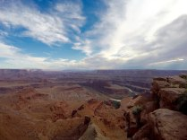 After heading to Moab, Utah, we first visited Dead Horse Point State Park. Wow.