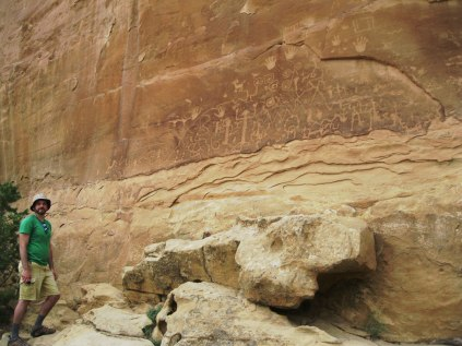 We made the 2.5 mile trek to Petroglyph Point to see the largest panel of ancient cliff artworks.