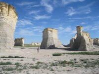 Monument Rocks in Kansas was the first site to be named a National Natural Landmark. No crowds here.
