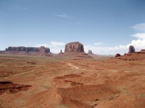 Monument Valley. We drove the bumpy, dusty scenic drive to see the towering sandstone buttes. Also, it was 100 degrees.