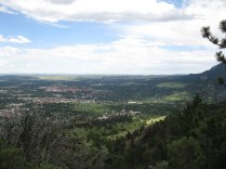 Overlooking Boulder, Colorado from Mt. Sanitas. It's a great hike that starts right at the edge of town.