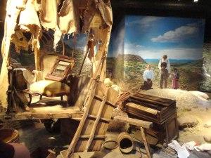 Inside Nebraska's Great Platte River Road Archway Museum.