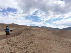 Hiking amongst the dunes.