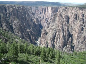 Black Canyon of the Gunnison from the Oak Flat Loop Trail.