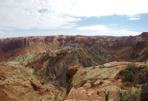 Upheaval Dome viewed from the overlook trail.
