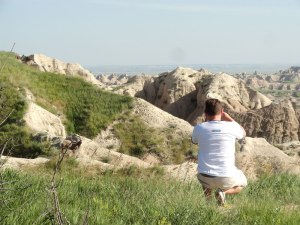 Photographing the wildlife of Badlands.