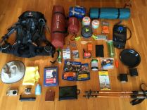 Our evening in the Grand Portage lodge was spent organizing our gear for the backpacking portion of the trip at Isle Royale National Park. 40lbs on each of our backs.