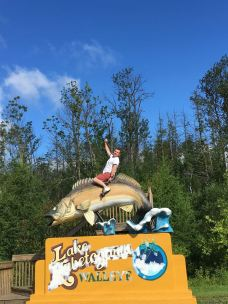 Having some fun on the way from Voyageurs to Grand Portage.