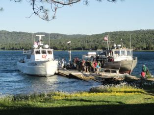 We departed Grand Portage, MN at 7:30am on the Voyageur II (at right). It was a five hour boat ride to McCargoe cove, where we disembarked.