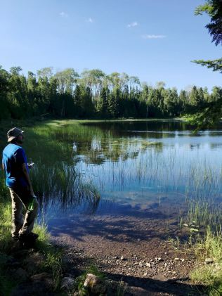 We took an evening walk to nearby Lake LeSage. Tranquil lakes like this are all over Isle Royale.