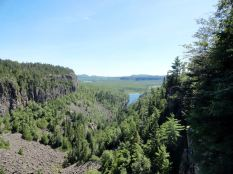 North of Thunder Bay, we stopped at Ouimet Canyon. Two viewing platforms afford views into the 330 ft deep gorge.