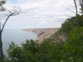Pictured rocks National Lakeshore in the U.P. protects colorful bluffs and these massive sand dunes near Grand Marais.