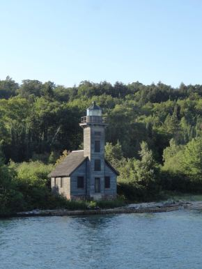 We took another evening boat cruise at Pictured Rocks. This is the East Channel Lighthouse on Grand Island just off the shore at Munising, MI.