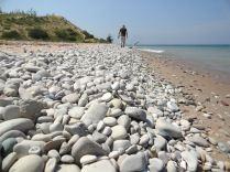 A pebble beach at Sleeping Bear Point.