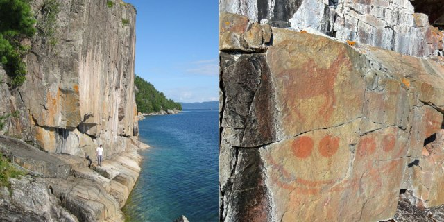 Agawa Rock Petroglyphs
