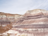 Blue Mesa has a 1-mile trail that leads through eroded mounds with varying stripes of color.