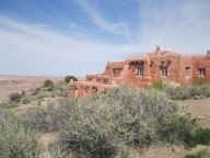 The Painted Desert Inn at Petrified Forest was built in the 1920s, heavily renovated by the CCC in the '30s and and then was run by the Harvey Corporation. Today it is a National Historic Landmark open to the public.
