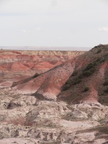 Overlook of the Painted Desert that makes up the northern portion of Petrified Forest National Park.