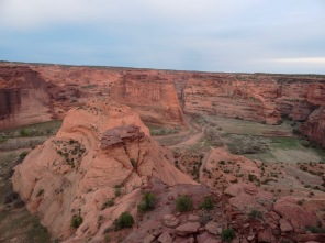 Overlooking Canyon de Chelly from South Rim Drive.