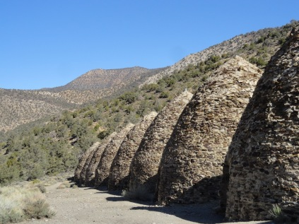 Charcoal kilns at the trailhead of the Wildrose Peak Trail we hiked.