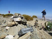 Checking out the view from the 9,064 ft summit.