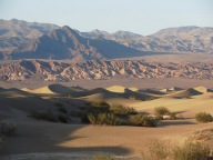Evening light at the Mesquite Sand Dunes near Stovepipe Wells Village.